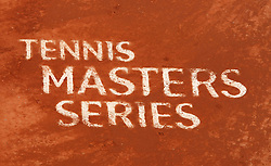 MONTE-CARLO, MONACO - Wednesday, April 16, 2003: Tennis Masters Series written in the clay court at the Monte-Carlo Country Club during the 2nd Round of the Tennis Masters Monte-Carlo. (Pic by David Rawcliffe/Propaganda)