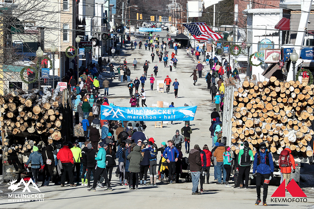 Millinocket Marathon and Half<br /> Finish on Penobscot Avenue