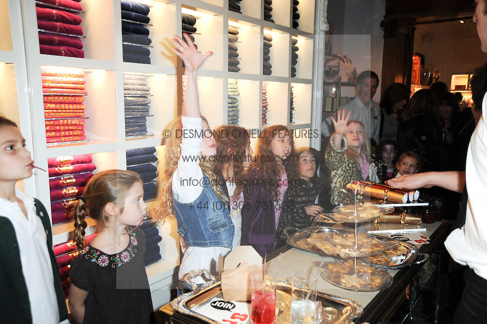 Atmosphere at the Juicy Couture children's tea party in aid of Mothers 4 Children held at the Juicy Couture Store, Bruton Street, London on2nd December 2009.