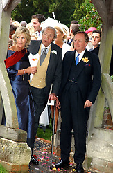 ANNABEL ELLIOT sister of Camilla Parker Bowles, her father BRUCE SHAND and ANDREW PARKER BOWLES at the wedding of Tom Parker Bowles to Sara Buys at St.Nicholas Church, Rotherfield Greys, Oxfordshire on 10th September 2005.<br /><br />NON EXCLUSIVE - WORLD RIGHTS