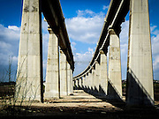 Railway bridges on the new Tel Aviv to Jerusalem railway line due to open in 2016