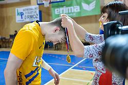 Malus Jaka of RK Celje Pivovarna Lasko during handball match between RK Krka and RK Celje Pivovarna Lasko in the Final of Slovenian Men Handball Cup 2018, on April 22, 2018 in Sportna dvorana Ljutomer , Ljutomer, Slovenia. Photo by Mario Horvat / Sportida