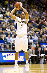February 13, 2010; Berkeley, CA, USA;  California Golden Bears guard Jorge Gutierrez (2) shoots a jump shot against the Washington State Cougars during the first half at the Haas Pavilion. California defeated Washington State 86-70.