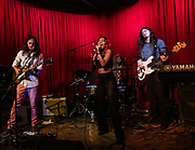 Southern Avenue performs at Hotel Cafe in Los Angeles, California.