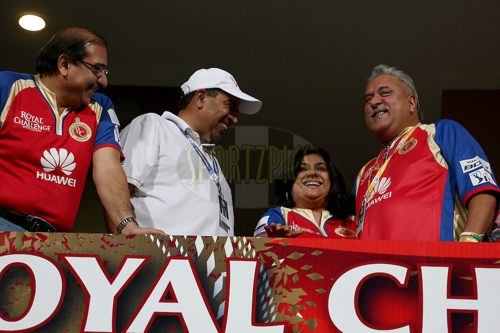 Dr Vijay Mallya during match 24 of the Pepsi Indian Premier League Season 2014 between the Royal Challengers Bangalore and the Sunrisers Hyderabad held at the M. Chinnaswamy Stadium, Bangalore, India on the 4th May 2014. Photo by Jacques Rossouw / IPL / SPORTZPICS<br /> <br /> <br /> <br /> Image use subject to terms and conditions which can be found here:  http://sportzpics.photoshelter.com/gallery/Pepsi-IPL-Image-terms-and-conditions/G00004VW1IVJ.gB0/C0000TScjhBM6ikg