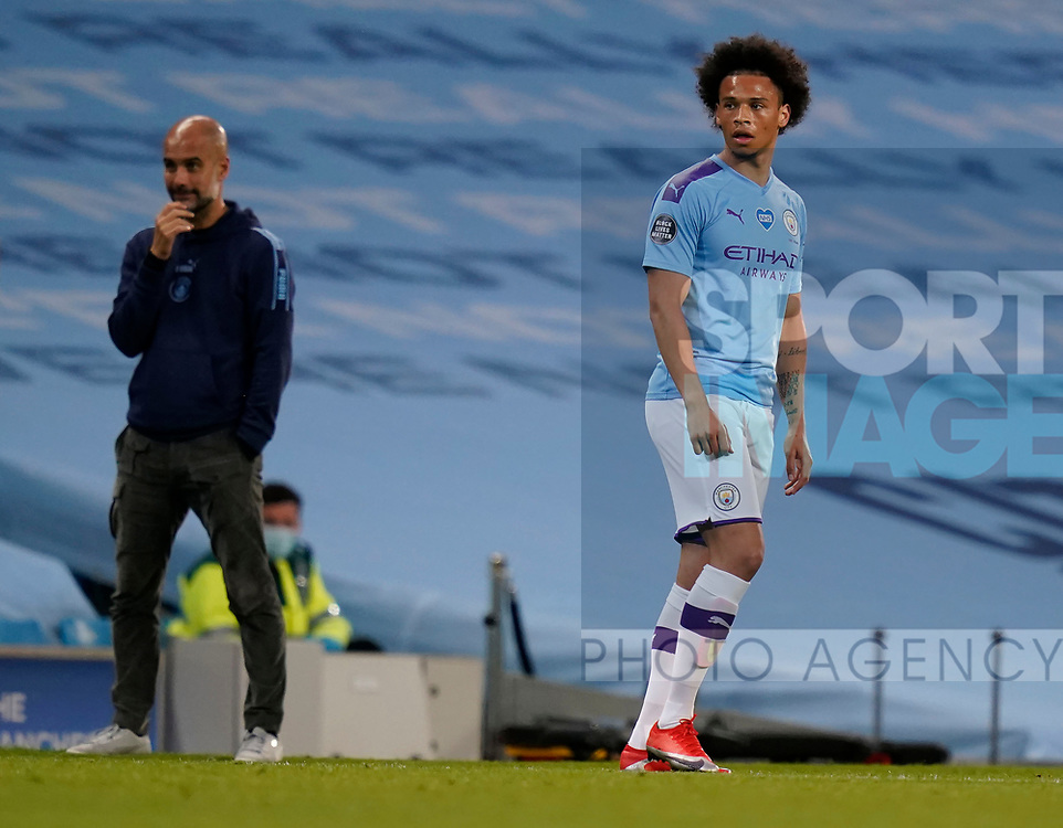 Leroy Sane Manchester City during the Premier League match at the Etihad Stadium, Manchester. Picture date: 22nd February 2020. Picture credit should read: Andrew Yates/Sportimage