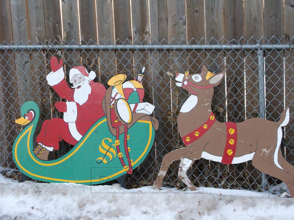 Vintage Santa And Reindeer Fahrmannphoto Com