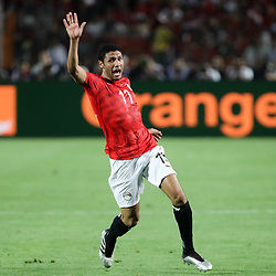 06 July 2019, Egypt, Cairo: Egypt's Mohamed Elneny reacts during the 2019 Africa Cup of Nations round of 16 soccer match between Egypt and South Africa at Cairo International Stadium. Photo : PictureAlliance / Icon Sport