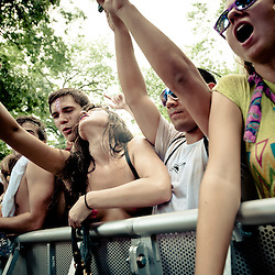 Anticipation is in the air before Calvin Harris' Dance Forest set.