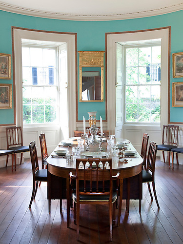 Dining Room, Nathaniel Russell House, Charleston, South Carolina.