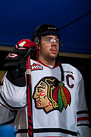 KELOWNA, CANADA - OCTOBER 21: Keoni Texeira #44 of the Portland Winterhawks stands in the tunnel against the Kelowna Rockets on October 21, 2017 at Prospera Place in Kelowna, British Columbia, Canada.  (Photo by Marissa Baecker/Shoot the Breeze)  *** Local Caption ***