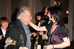 DAVID BAILEY & MARY McCARTNEY at a dinner hosted by Vogue in honour of photographer David Bailey at Claridge's, Brook Street, London on 11th May 2010.