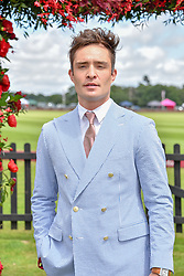 Ed Westwick at the Cartier Queen's Cup Polo 2019 held at Guards Polo Club, Windsor, Berkshire. UK 16 June 2019. <br /> <br /> Photo by Dominic O'Neill/Desmond O'Neill Features Ltd.  +44(0)7092 235465  www.donfeatures.com