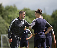 Assistant manager Graham Gartland talks to Jesse Curran - Dundee FC pre-season training at Michelin Grounds, Dundee, Photo: David Young<br /> <br />  - &copy; David Young - www.davidyoungphoto.co.uk - email: davidyoungphoto@gmail.com