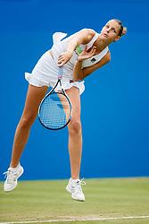 Aegon International 2017- Eastbourne - England - WTA Women's Singles Final. Karolina Pliskova (Czech Republic) in action serving against against Caroline Wozniacki (Denmark). Saturday, 1st, July, 2017 - Devonshire Park.<br /> (Photo by Nick Walker/Sport Picture Library)
