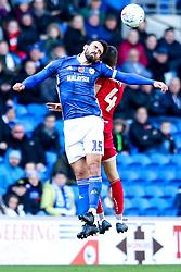 Marlon Pack of Cardiff City challenges Adam Nagy of Bristol City - Mandatory by-line: Robbie Stephenson/JMP - 10/11/2019 -  FOOTBALL - Cardiff City Stadium - Cardiff, Wales -  Cardiff City v Bristol City - Sky Bet Championship