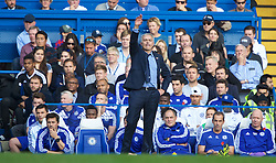 LONDON, ENGLAND - Saturday, October 31, 2015: Chelsea's manager Jose Mourinho during the Premier League match against Liverpool at Stamford Bridge. (Pic by Lexie Lin/Propaganda)