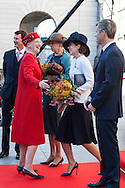 04.10.2016. Copenhagen, Denmark.  <br /> Prince Joachim, Queen Margrethe, Crown Princess Mary and Crown Prince Frederik attended the opening session of the Danish Parliament (Folketinget) at Christiansborg Palace in Copenhagen, Denmark.<br /> Photo: &copy; Ricardo Ramirez