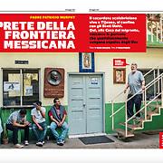 """""""Il prete della frontiera messicana"""", published in Credere magazine, Italy, May 2017"""