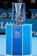 The ATP Trophy during the Finals and day eight of the Barclays ATP World Tour Finals at the O2 Arena, London, United Kingdom on 20 November 2016. Photo by Martin Cole.