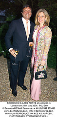 SIR ROCCO & LADY FORTE at a dinner in London on 24th May 2004.PUJ 260