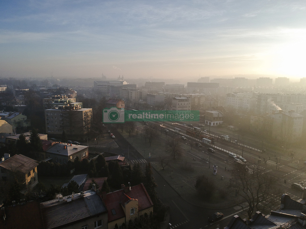 January 2, 2018 - Krakow, Poland - Smog is seen above residential areas in  Krakow. Today, January 02 the public transport is free due to the high levels of PM10 circulating in the air. (Credit Image: © Omar Marques/SOPA via ZUMA Wire)