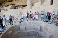 Ceremonial Kiva at Cliff Palace at Mesa Verde National Park, Colorado.