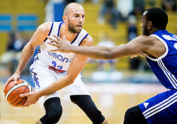 Nebojsa Joksimovic of Cibona vs Lamont Jones of KK Mornar during basketball match between KK Cibona Zagreb (CRO) and KK Mornar (MNE) in Round #4 of FIBA Champions League 2016/17, on November 9, 2016 in Drazen Petrovic Basketball center, Zagreb, Croatia. Photo by Vid Ponikvar / Sportida