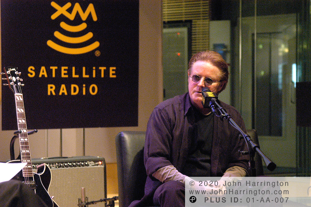 Don Henley pays a visit to XM's studios for an on-air interview Friday March 12, 2004.