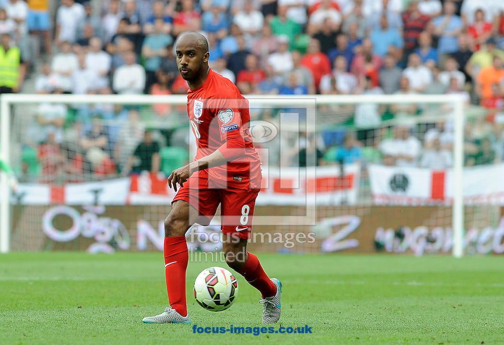 Fabian Delph of England during the UEFA Euro 2016 Qualifying match at Stozice Stadium, Ljubljana<br /> Picture by Stefano Gnech/Focus Images Ltd +39 333 1641678<br /> 14/06/2015