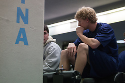 27 November 2007: North Carolina Tar Heels men's lacrosse Pell George during a weight lifting session in Chapel Hill, NC.