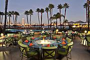 Coronado Island Marriott Patio with a view of San Diego