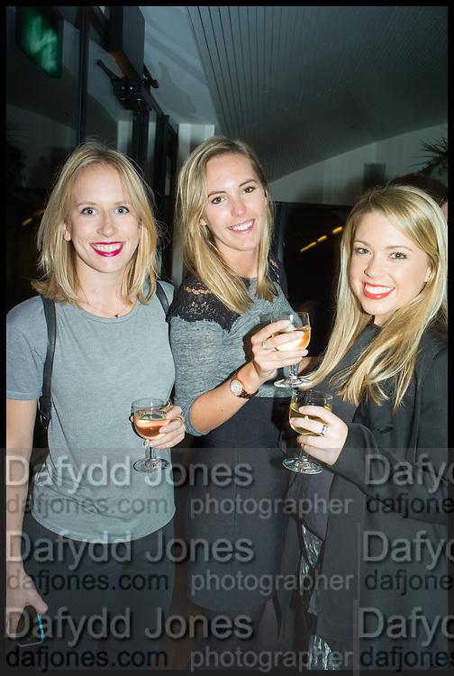 BROGAN DRISCOLL; SARAH COLES; KASHA TARASIUK, Frieze party, ACE hotel Shoreditch. London. 18 October 2014