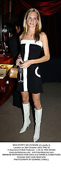 MISS POPPY DELEVINGNE at a party in London on 28th October 2003.PNU 52