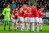 ALKMAAR - 06-02-2016, AZ - Vitesse, AFAS Stadion, 1-0, begin van de wedstrijd.