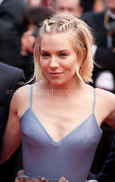 Actress Sienna Miller at the Closing ceremony and premiere of La Glace Et Le Ciel at the 68th Cannes Film Festival, Sunday 24th May 2015, Cannes, France.