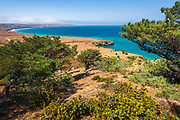 Bechers Bay from the Torrey Pines Trail, Santa Rosa Island, Channel Islands National Park, California USA