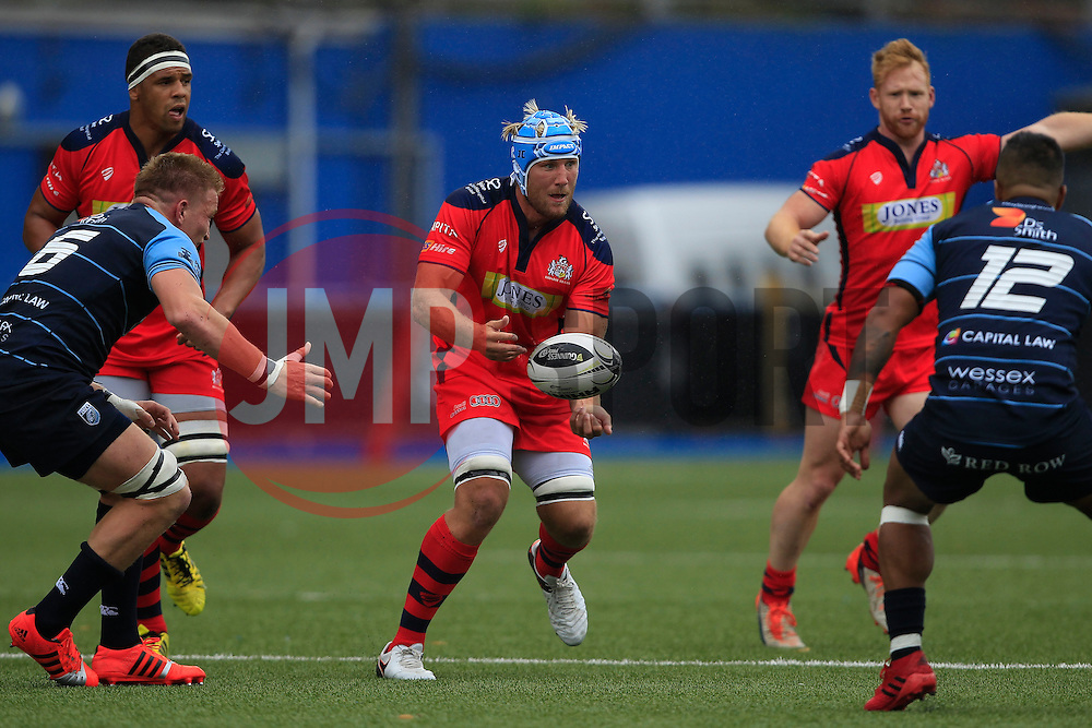 Jordan Crane of Bristol Rugby (C) in action - Mandatory by-line: Ian Smith/JMP - 20/08/2016 - RUGBY - BT Sport Cardiff Arms Park - Cardiff, Wales - Cardiff Blues v Bristol Rugby - Pre-season friendly