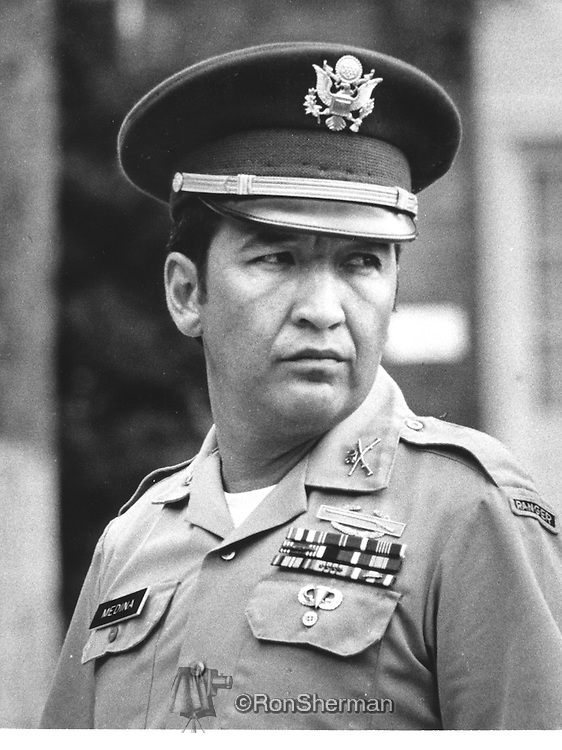 Ernest Lou Medina (born August 27, 1936) is a former captain of infantry in the United States Army. He served during the Vietnam War and was acquitted in a court-martial of war crimes charges in 1971. He was the commanding officer of Company C, 1st Battalion, 20th Infantry of the 11th Brigade, Americal Division, the unit responsible for the My Lai Massacre of 16 March 1968.<br /> <br /> In August 1971, Medina was ultimately found not guilty of all charges relating to the deaths of more than 500 South Vietnamese civilians in the massacre. His trial deliberations lasted approximately 60 minutes. Nevertheless, his military career was finished and Medina resigned from the U.S. Army shortly thereafter.