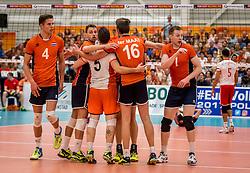 25-09-2016 NED: EK Kwalificatie Nederland - Turkije, Koog aan de Zaan<br /> Nederland plaatst zich voor het EK in Polen door Turkije met 3-1 te verslaan / Daan van Haarlem #1, Thijs ter Horst #4