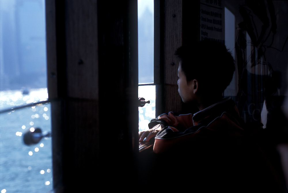 Boy on Star Ferry, hong Kong