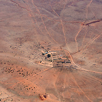 062513       Brian Leddy<br /> Cattle graze at the Big Boquillas Ranch near the Grand Canyon in this aerial photo from May 29.