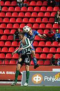 22.05.2008, Ratina, Tampere, Finland..Veikkausliiga 2008 - Finnish League 2008.Tampere United - FC KooTeePee.Mathias Lindstr?m (TamU) v Jani Lauretsalo (KooTeePee).©Juha Tamminen.....ARK:k