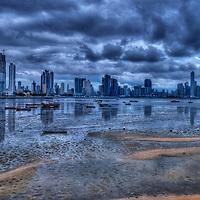 The skyline of Panama city