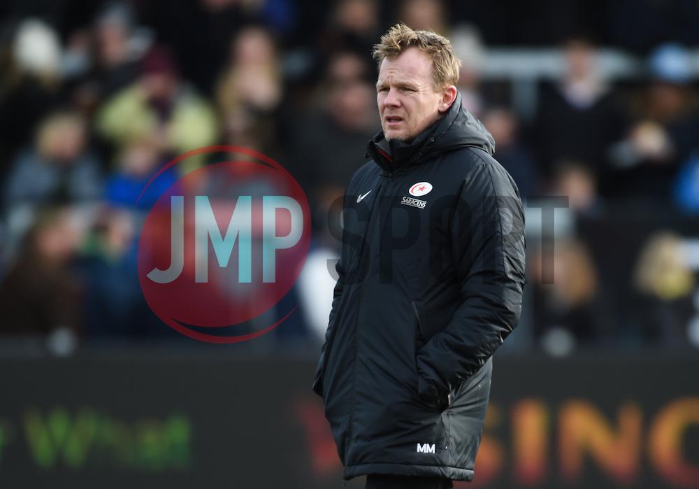 Saracens' Head Coach Mark McCall looks on.  - Mandatory byline: Alex Davidson/JMP - 07/02/2016 - RUGBY - Sandy Park -Exeter,England - Exeter Chiefs v Saracens - Aviva Premiership