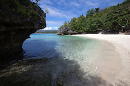 Salagdoong Beach is one of  the most popular beaches on Siquijor Island. This white sand beach located near the town of Maria is enclosed by a rocky hill and boulders that give it a grotto like appearance.