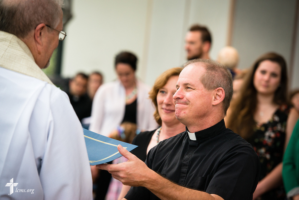 Photographs from a Service of Sending for new missionaries at the International Center chapel of The Lutheran Church–Missouri Synod on Thursday, July 2, 2015, in Kirkwood, Mo.  LCMS Communications/Erik M. Lunsford
