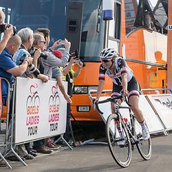 03-09-2017: Wielrennen: Boels Ladies Tour: Sittard<br /> Lucinda Brand komt op het Tom Dumoulin Bike Park als tweede over de finish