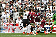 Derby County striker Jack Marriott (14) scores a goal from open play 2-1 during the EFL Sky Bet Championship play off final match between Aston Villa and Derby County at Wembley Stadium, London, England on 27 May 2019.
