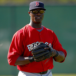 February 19, 2011; Fort Myers, FL, USA; Boston Red Sox center fielder Mike Cameron (23) during spring training at the Player Development Complex.  Mandatory Credit: Derick E. Hingle